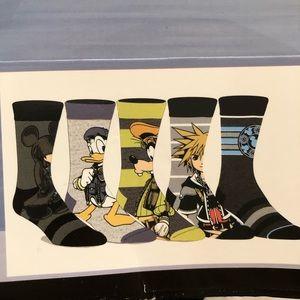 Disney Kingdom Hearts Crew Socks Mickey Donald